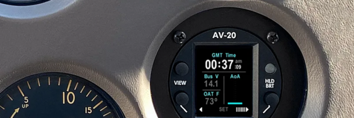 uAvionix AV-20-S Approved as Clock Replacement