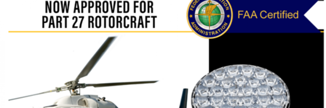 FAA Approves AeroLEDs for Part 27 Rotorcraft